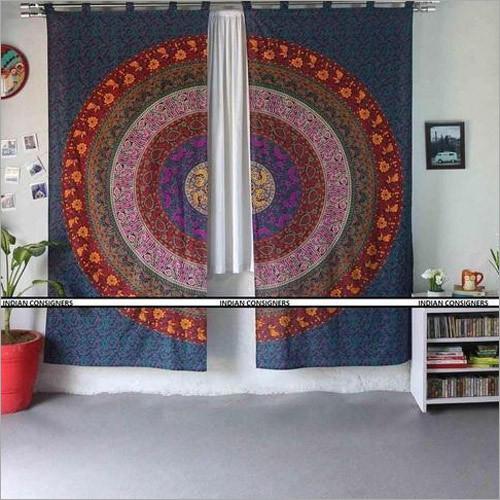 Printed Mandala Curtain