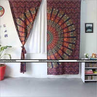 Printed Indian Mandala Curtain