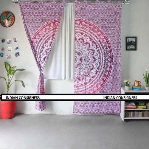 Window Printed Mandala Curtain