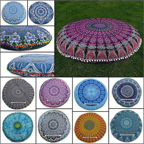 Mandala Round Cushion Cover