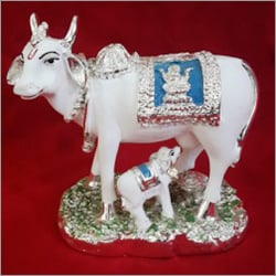 Gold/Silver/White Cow Statue
