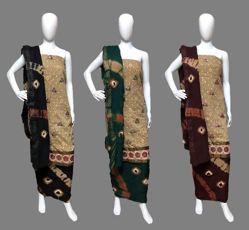 Embroidery Folil Work Cotton Batik Dress Material