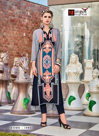 New Fancy Digital Print Kurtis