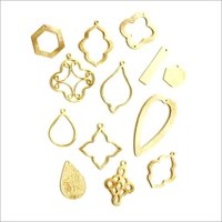 Brushed Gold Plated Jewelry Charms and Findings