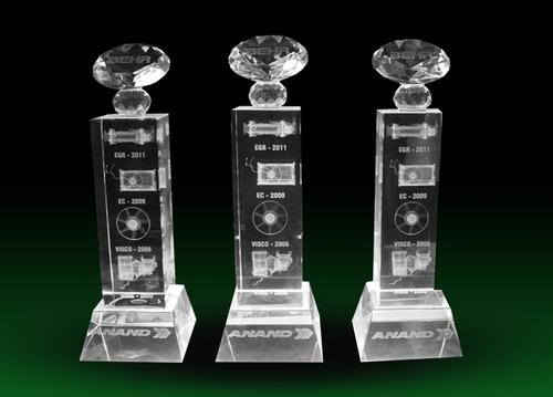 3D Crystal Award & Trophies