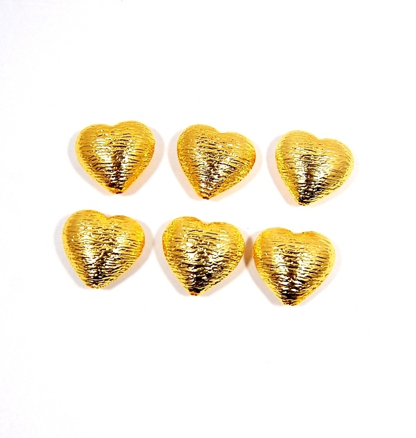 Brushed Gold Plated Round Bead, Handmade Gold Plated Findings, Brushed Bead Findings