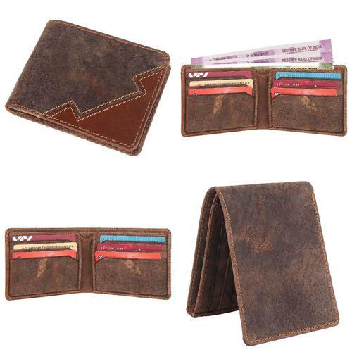 Hunter trendy Men's Genuine Leather Bi-fold wallet