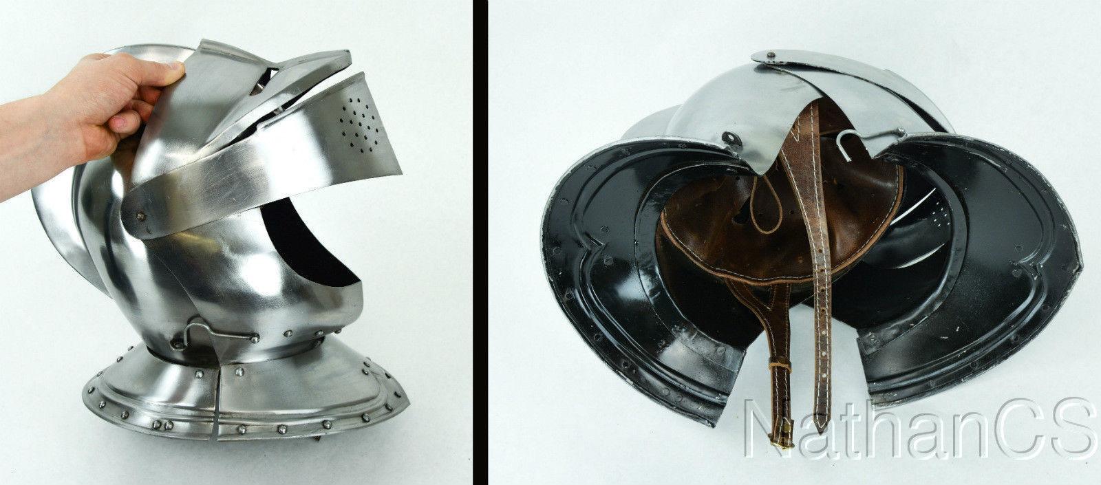 New Knight Medieval European Closed Knights Armors Helmet 300 SPARTAN