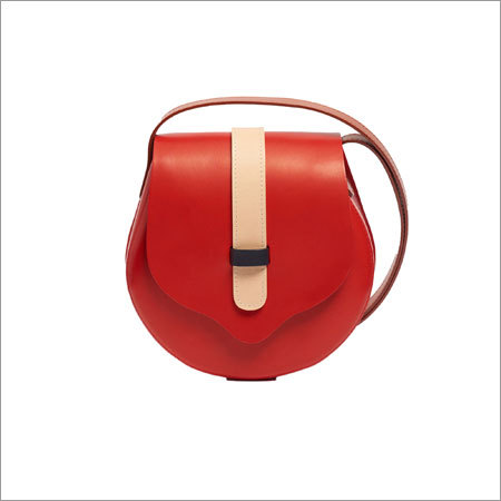 Leather Red Cross Body Bag