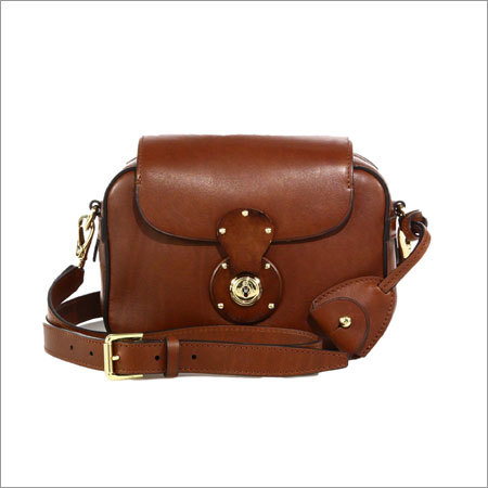 Leather Zip Cross Body Bag