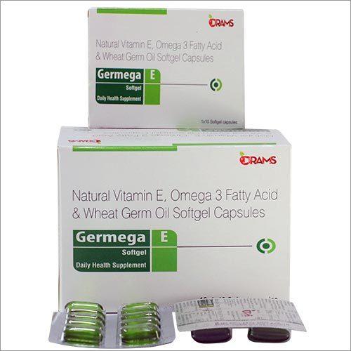 Natural Vitamin E Omega 3 Fatty Acid & Wheat Germ Oil Softfel Capsules