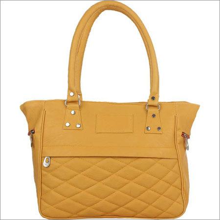 Ladies Yellow Color Handbags