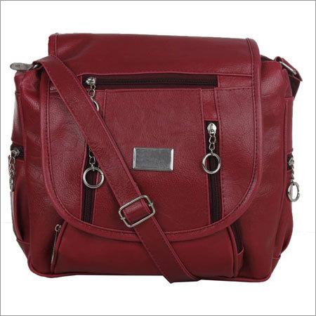 Girls Maroon Color Sling Bag
