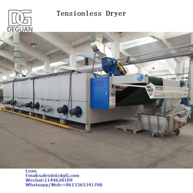 Knit Fabrics Open Width And Tubular Tensionless Dryer