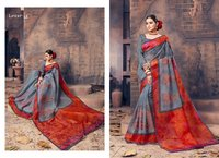 Fancy designer cotton sarees online shopping