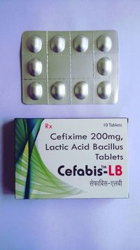 Cefixime 200mg And Lactic Acid Bacillus Tablets