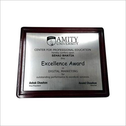 printed college certificate