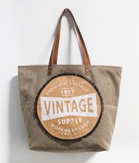 Vintage Star Brown Bag
