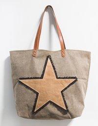 Vintage Star Brown Bag