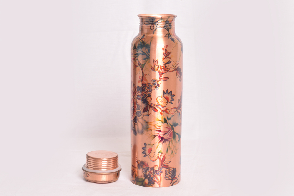 Copper Water Bottels and Glass