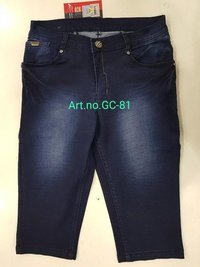 Denim Jeans Capri for Ladies