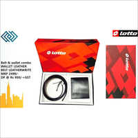 Lotto Wallet and Belt Combo gifts mrp 2499