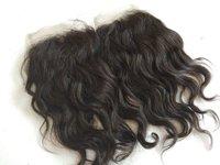 100% Raw wavy single donor hair, Wavy Lace Closure