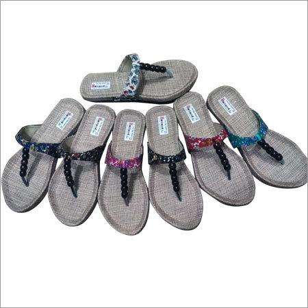 Ladies Fancy Beads Slippers