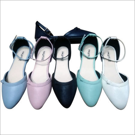 Ladies Ankle Tie Flat Belly Shoes