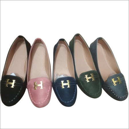 Ladies H Buckle Loafer Shoes
