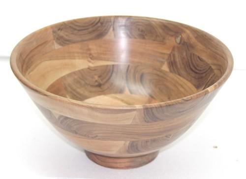 Acacia  Wood Bowl With Base