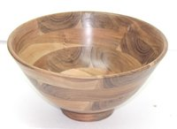 Acacia  Wood Bowl With Base
