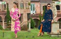 Designer Fancy Long Print Kurtis Online India