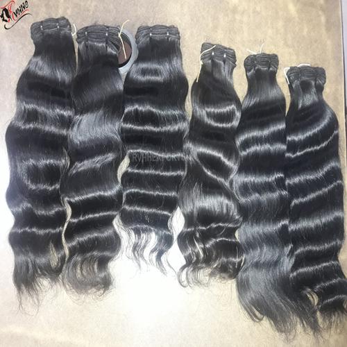 Premium Natural Indian Human Hair Baby Soft Wave Weaving