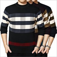 Men Striped Sweatshirt