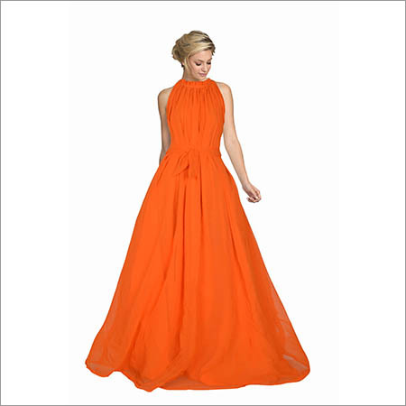 Ladies Orange  Dyna Gown