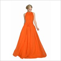 Ladies Orange  Dyna Gown