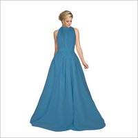 Ladies Long Cruze blue Gown