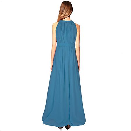 Ladies Long Cruze blue Gown