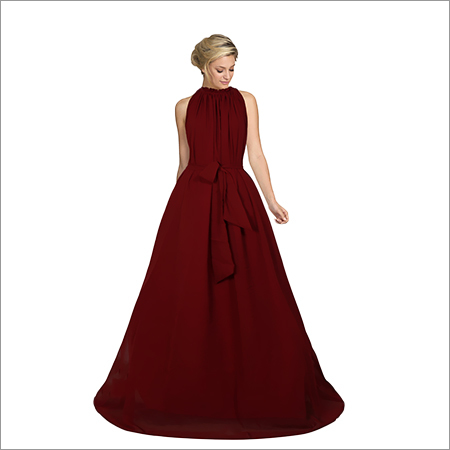 Ladies Dyna Maroon Gown