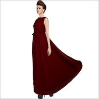Ladies Dyna Maroon Gown