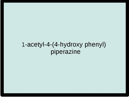 1-acetyl-4-(4-hydroxy phenyl) piperazine
