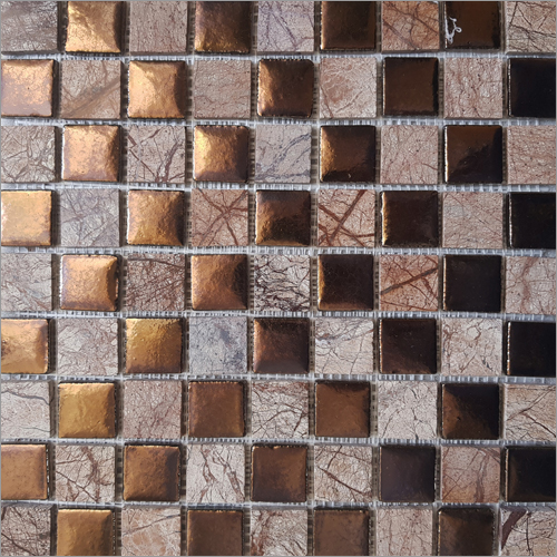 Bronze with Bhutani Stone Mosaic Tiles
