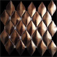 Droplet Mosaic Bronze Tiles