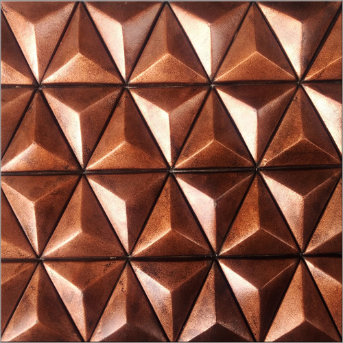 Triangle Shape Metal Mosaic Tiles