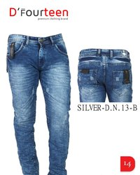 MEN BRANDED NERO BUTTONS JEANS