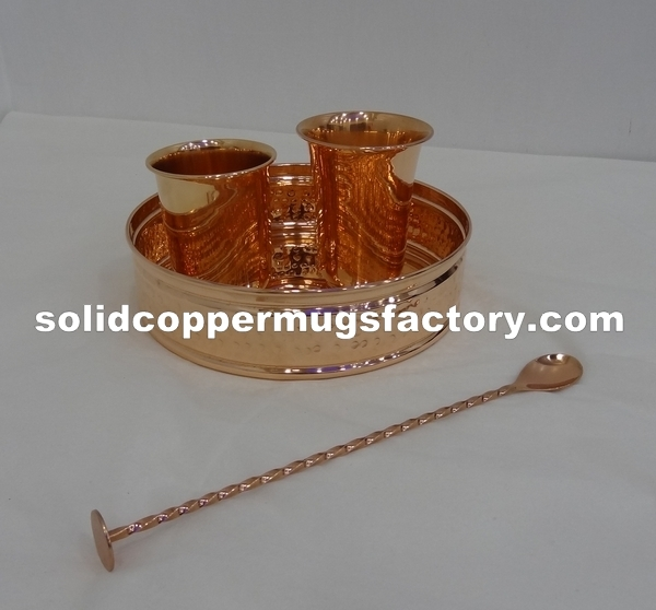 Luxury Copper Bar Tray