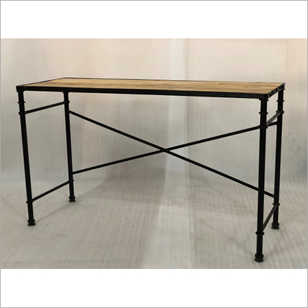 IRON & WOODEN CONSOLE TABLE