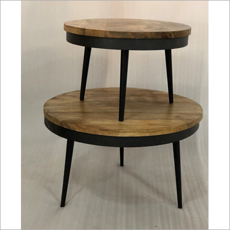 IRON & WOODEN COFFEE TABLE S 3