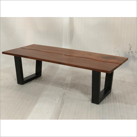 IRON & WOODEN COFFEE TABLE